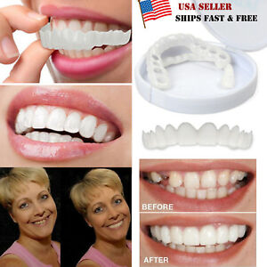 Details about Cosmetic Dentistry Snap On Instant Perfect Smile Comfort Fit  Flex Teeth Veneers