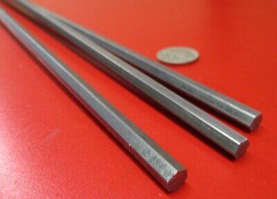 1018 Carbon Steel Hex Rod 6 mm Hex  x 6 Foot Length 3 Pcs 18 Ft