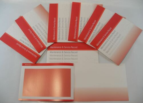 Generic Service History Book Suitable For Nissan Leaf Micra Note Juke Red