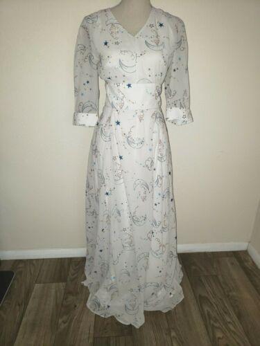 ESHAKTI Dress Sz L Good Witch Lt Gray Celestial Mo