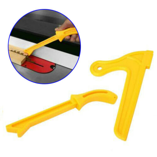 2pcs Yellow Safety Push Stick Table Saw Grip Pusher Woodworking Carpentry Tools