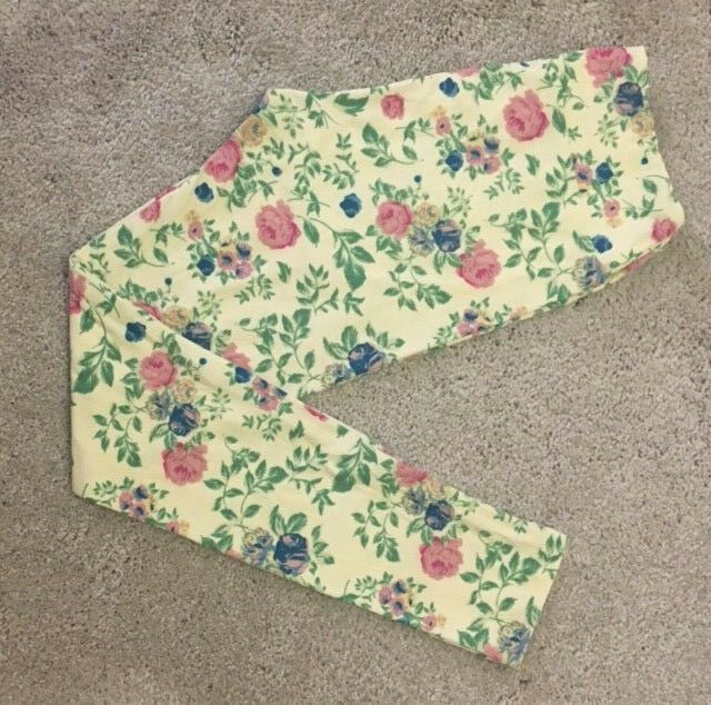 LuLaRoe Leggings  OS  PALE YELLOW with blueE PINK & YELLOW pinkS   UNICORN