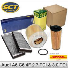 Audi A6 4F C6 2,7 TDI 3,0 TDI bis 10/08 Inspektionspaket Filterset | SCT & MANN