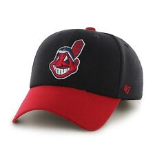 Cleveland Indians - 47 Brand MLB Strapback Adjustable Dad Cap Hat MVP Wahoo
