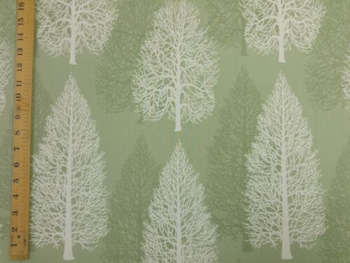 MARSON FIRS TREES GREEN DESIGNER CURTAINS BLINDS CRAFT UPHOLSTERY FABRIC