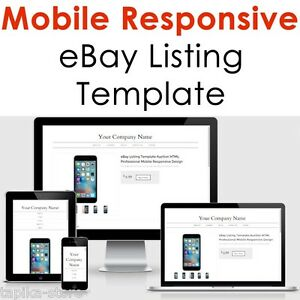 Template Ebay Listing Design Mobile Professional Responsive Auction - Ebay listing templates