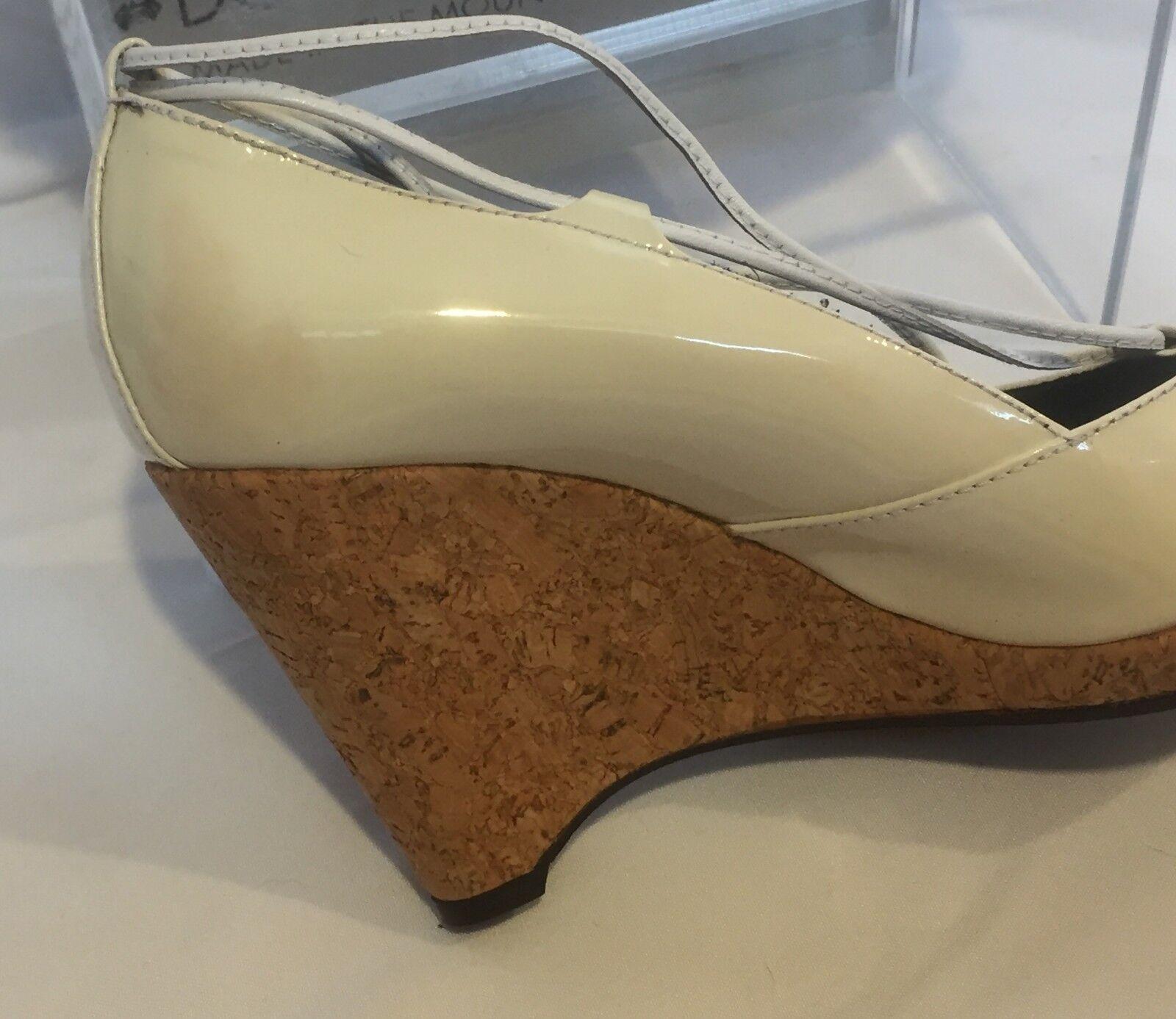 Donald Pliner Couture Patent Leather Wedge schuhe New Peep Toe Toe Toe Platform  235 NIB 3ee309