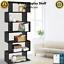 thumbnail 2 - Black 6 Tier Display Shelf Bookcase Book Storage Bookshelf Rack Unit Stand Black