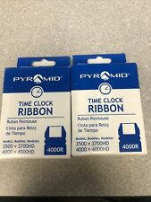 2 Pyramid 4000r Replacement Ribbon For 3500 3700hd 4000 4000hd Time Clocks