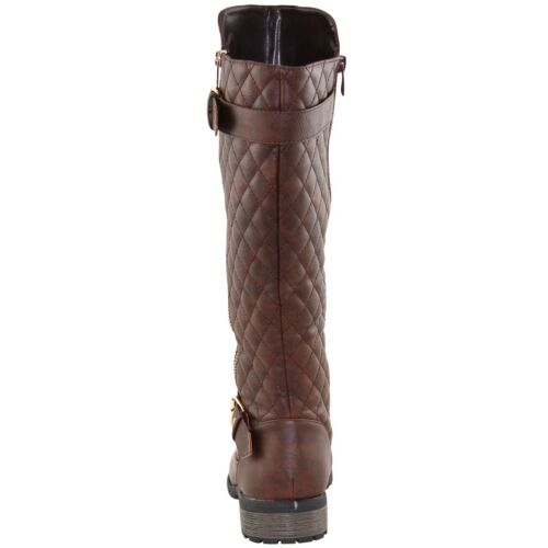 New women/'s shoes high shaft boot knee high synthetic winter warm fashion brown