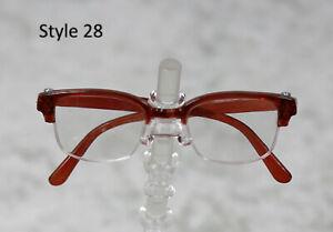 1/3 1/4 BJD SD 60cm 45 eye glasses eyeglasses Dollfie Brown clear lens Style 28
