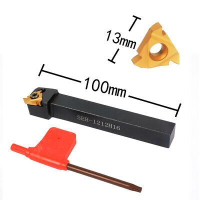 10Pcs Threading Insert SER1212H16 Lathe CNC Cutting Tool Holder With Wrench