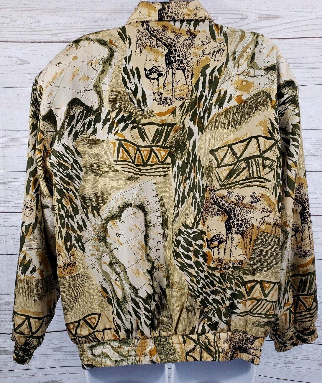 Coaco 100% Silk Small Jacket Multi Color Full Zip… - image 5