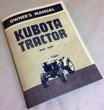 Kubota B6000 Tractor Owners Operators Manual Diesel Maintenance Adjustment