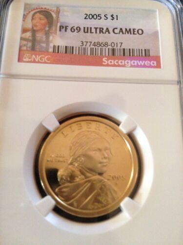 Sacagawea  Dollar PF69 Ultra Cameo Proof 2005-S SAC$1