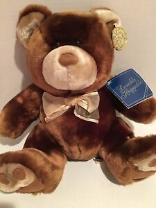 "Dan Dee Collector's Choice Plush Brown Bear 10"" sitting NEW W TAG Stuffed animal"