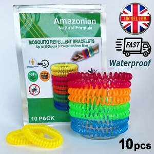 Mosquito-Repellent-Bracelet-Anti-Insect-DEET-Free-Wrist-Band-Bug-Repeller-10PCS