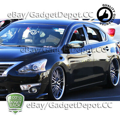2 Chrome Mirror Covers with Signal For 2013 2014 2015 2016 2017 NISSAN Altima