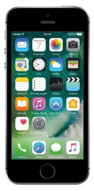 "Apple iPhone SE 16GB Spacegrau LTE iOS Smartphone ohne Simlock 4"" Display 12 MPX"