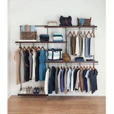 Wire Closet System, 5 8ft. 5 Shelf Nickel Wire Closet Organizer Kit