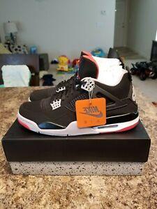 e9dea62184d4 NEW DS 2019 Nike AIR JORDAN RETRO 4 BRED BLACK CEMENT RED OG 308497 ...