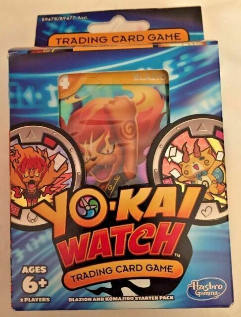 Yokai Watch Trading Card Game Blazion And Komajiro Starter 40 Cards 2 Medals For Sale Online Ebay