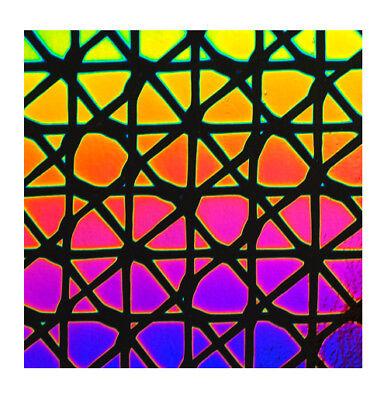 Dichroic Glass 90 COE Square 3 on Thin Black CBS 5x10 cm