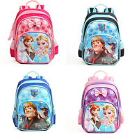 "13"" Disney Frozen Backpack Anna Elsa Girls School Bag Rucksack Children Kids#UK"