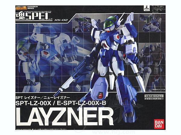 BANDAI Layzner XS-02 SPT-LZ-00X Chogokin DIE-CAST Figura De Acción Nuevo Sellado