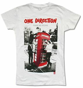 One Direction Take Me Home Girls Juniors White T Shirt New Official Ebay