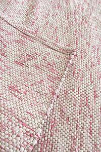 Flickenteppich weiß  Flickenteppich 160x160 ♥ weiß rosa Webteppich handgewebt ...