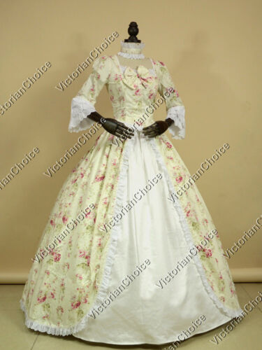 VictorianChoice Vintage Spring Floral Gown Dress Theater Period Clothing 146