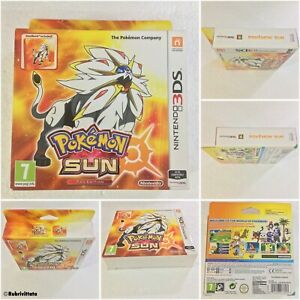 Nintendo 3DS Pokemon Sun Fan Edition Sealed Game & Limited Edition Steelbook NEW