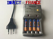 4 PILES ACCUS RECHARGEABLE NI-MH AAA 1350mAh 1.2V + CHARGEUR UNOMAT CHARGE FAST