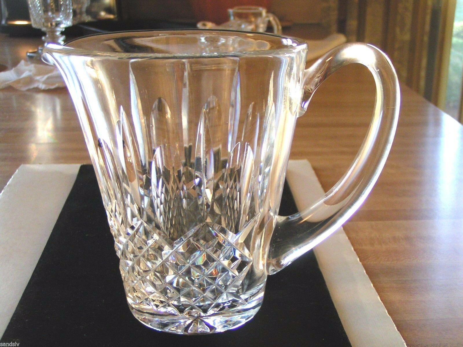 Waterford Crystal Pitcher Water Beer Pitcher Hand Cut Never Used Original Owner