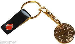 Dallas-Porte-Jeton-caddie-Officiel-en-metal-Bank-of-dallas-trolley-coin-keyring