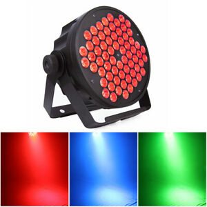 66 LED RGB Stage Lighting DMX Sound Auto PAR Light Wedding Party Show Uplighting