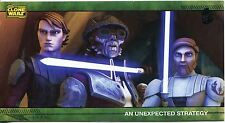 Star Wars Clone Wars Widevision Silver Stamped Parallel Base Card [500] #43