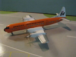 AVIATION-200-BRANIFF-034-ORANGE-034-L-188-034-ELECTRA-034-1-200-SCALE-DIECAST-METAL-MODEL