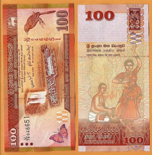 Sri Lanka 2010 GEM UNC 100 Rupees Banknote Paper Money Bill P-125