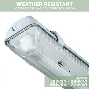 Single Weatherproof Non corrosive Strip Fluorescent Lights 18W,36W ...