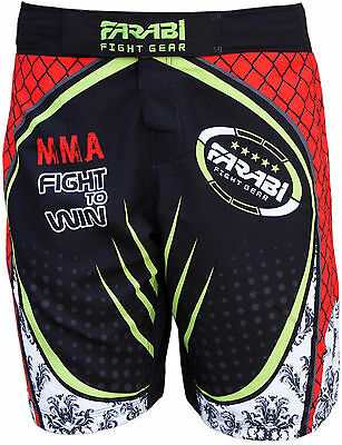 Farabi F2W MMA short grappling cage fight kick boxing board yellow XL