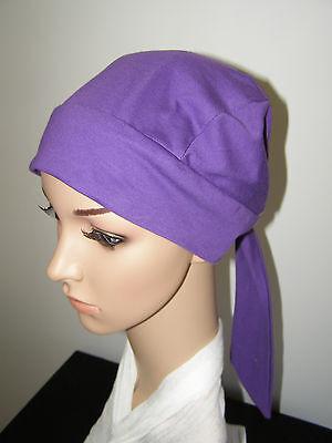 CHEMO /CANCER ALOPECIA.COTTON BANDANNA,SLOUCHY,TURBAN,HAT,WRAP.CAP FOR HAIR LOSS