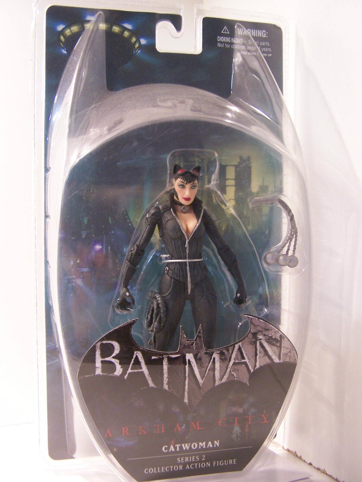 DC Direct Batman Arkham City Series 2 Catwoman figure MOC