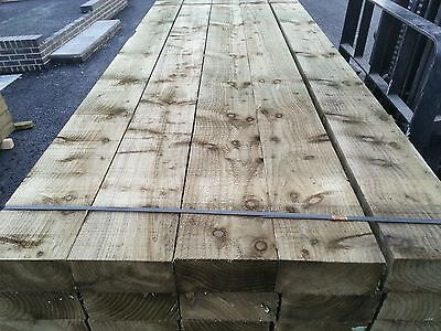 GARDEN SLEEPERS NEW GREEN TREATED  8FT  100mmx200mm EXCELLENT QUALITY