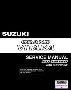 suzuki grand vitara diesel rhz 98 05 workshop service repair rh ebay ie Suzuki Samurai Suzuki X-90