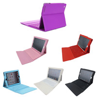 Wireless Bluetooth Keyboard W/ Stand Pu Leather Case Cover For Apple Ipad Air 2