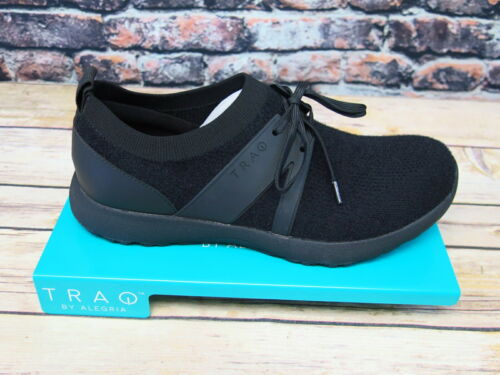 Alegria TRAQ QOOL Fuzz Black Smart Walking Shoe  *TRA-QOO-5001