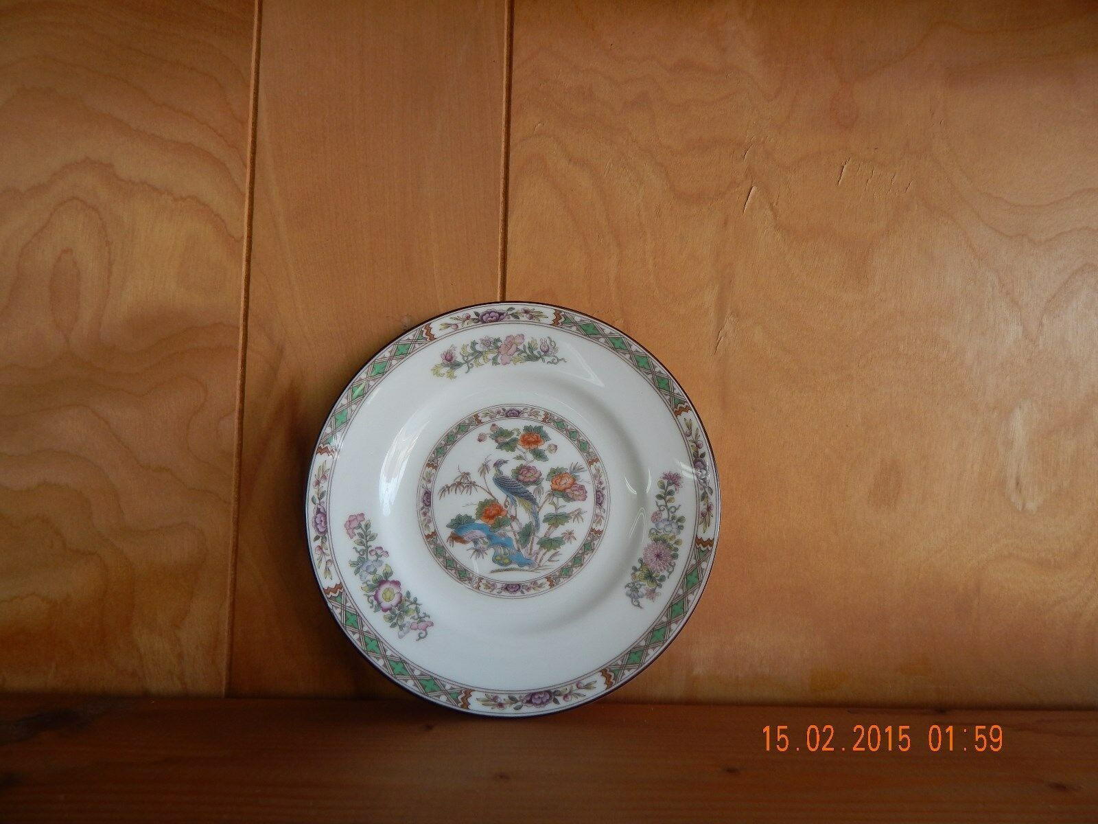 Wedgwood China Kutani Crane R4464 Pattern Dinner Plate Mint For Sale