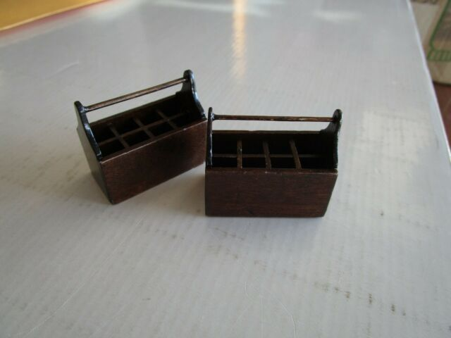 Dollhouse Miniature Unpainted Wood Empty Storage Box Wardrobe 1:12 Scale Toy